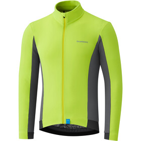 Shimano Maillot à manches longues Thermique Homme, neon yellow